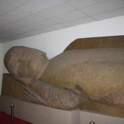 Giant sleeping Buddha in mueseum